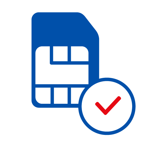 Icon: SIM-Karte registrieren