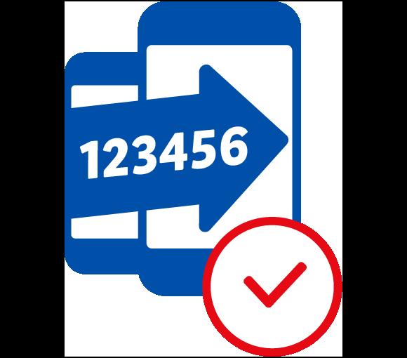 Icon: Rufnummer mitnehmen