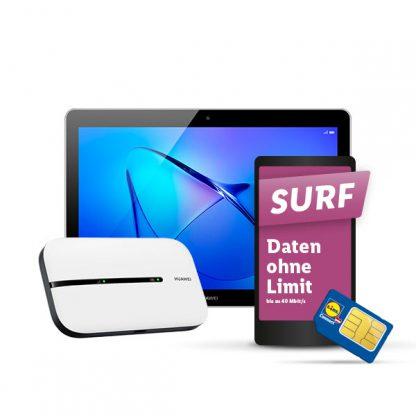 Produktbild: MediaPad T3 und Huawei E5576