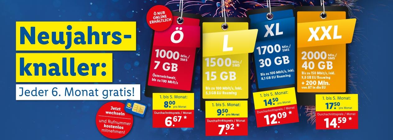 Neujahrsknaller: Jeder 6. Monat gratis!